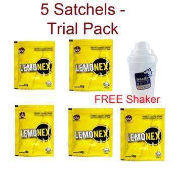 Original Lemonex 5 Satchels Trial Pack + FREE BPA Free Branded Shaker