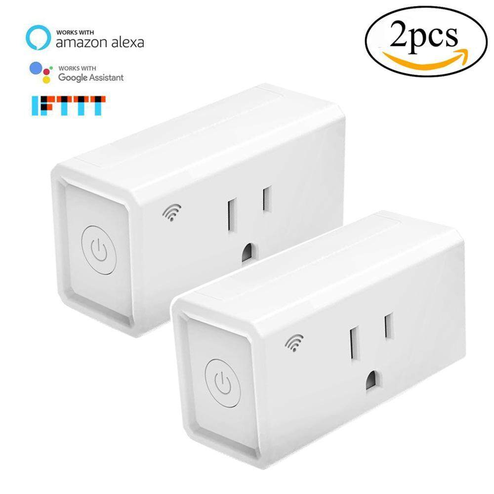 yugos Smart Plug Outlet,LUCKY CLOVER Mini Socket,Wireless Outlet Wi-Fi Smart Timing Socket,Control Your Devices From Anywhere,Compatible With Amazon Alexa,Google Home And IFTTT