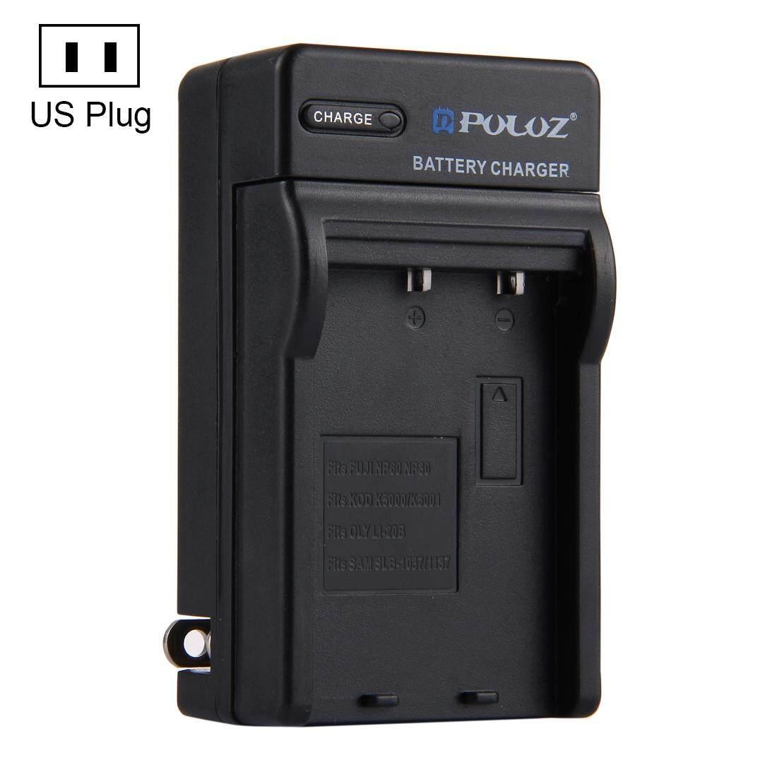 PULUZ US Plug Battery Charger for Fujifilm NP-60 / NP-30, Kodak K5000 / K5001, Olympus LI-20B, Samsung SLB-1037 / 1137 Battery - intl