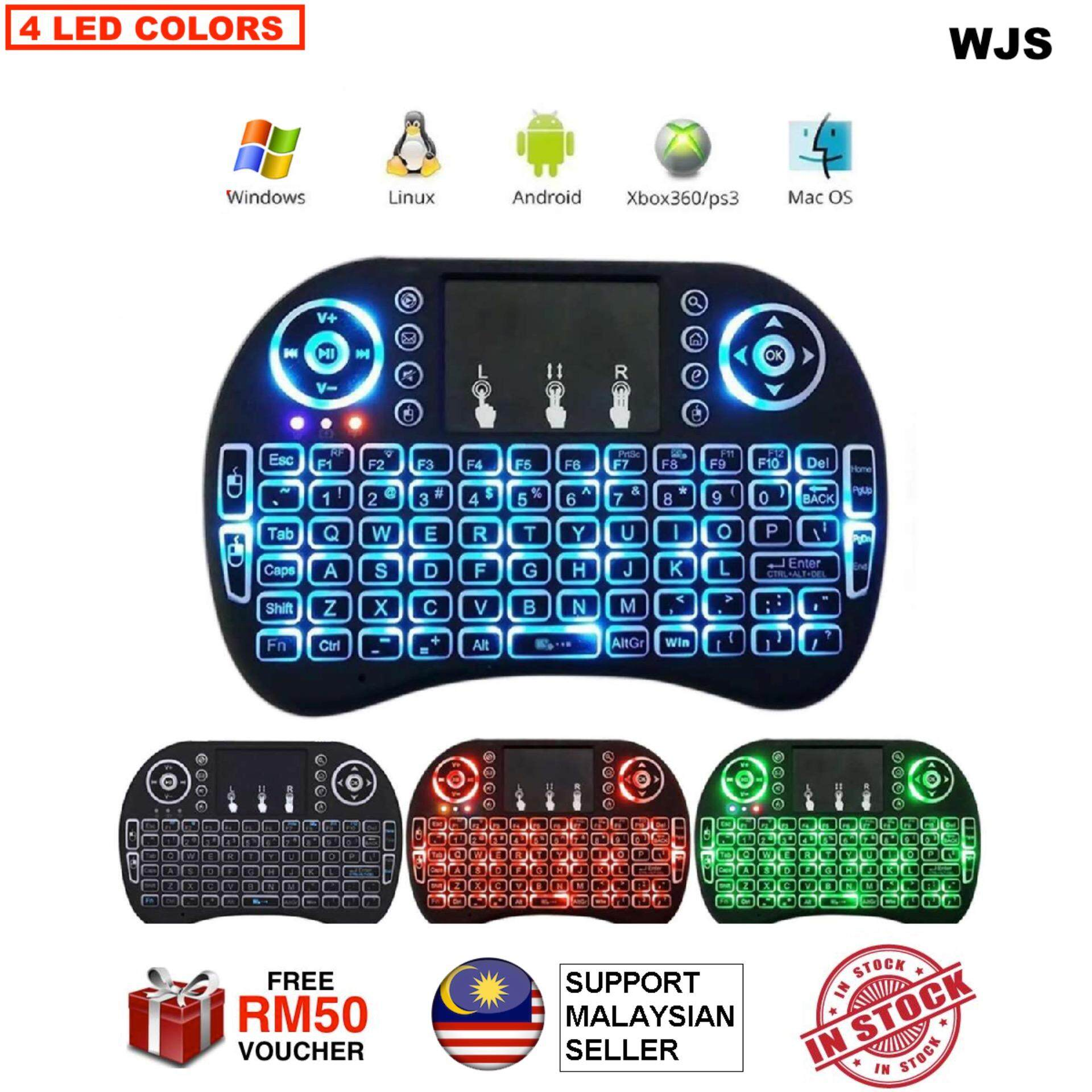 (FREE KEYBOARD BATTERY) WJS I8 Mini 2.4Ghz Wireless Touchpad Keyboard With Mouse For Pc