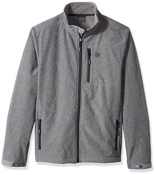 Wrangler Pria Besar dan Tinggi Air Repellent Jejak Jaket, Grey, 3X-Internasional