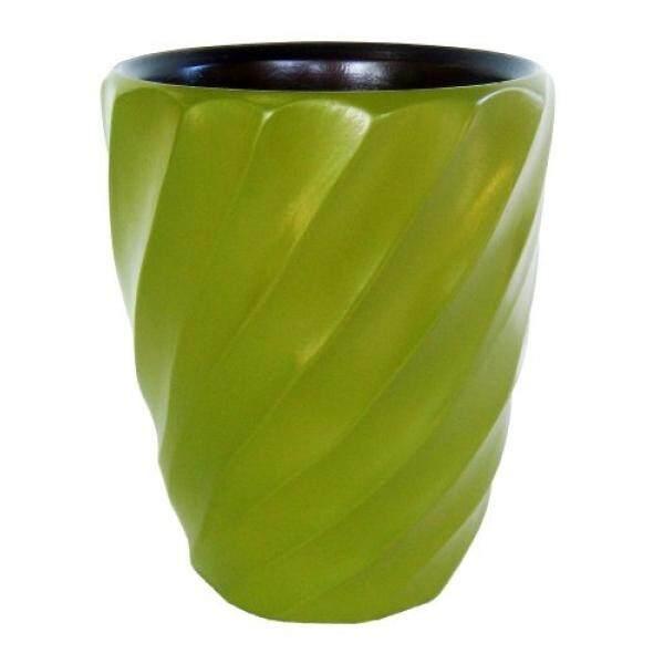 Enrico 3140MS4080 Kayu Mangga Spiral Utensil Vase, Alpukat-Internasional