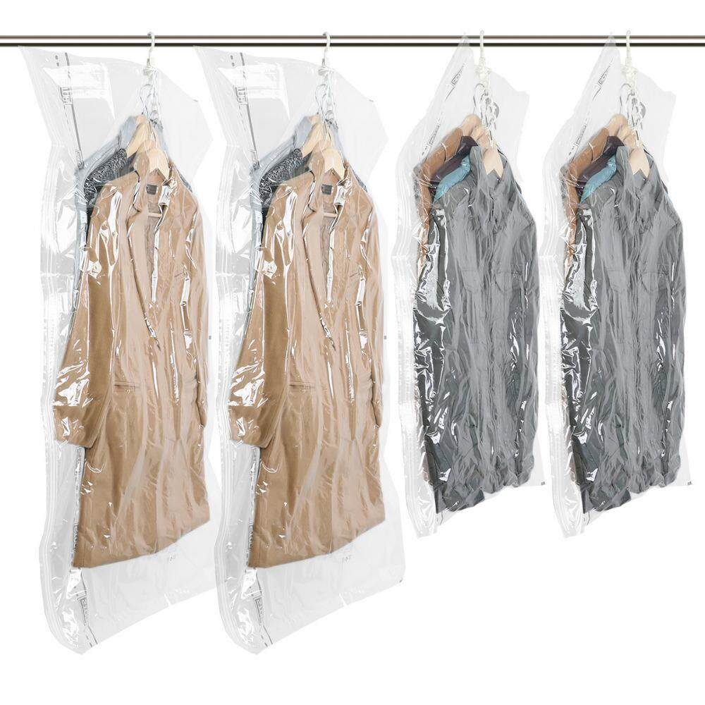 TAILI Hanging Vacuum Storage Bag Space Saver Bags for Clothers Save War(2pcs 135x70cm & 2pcs 105x70cm)drobe Space Closet Organizer for Coat / Down jacket 4 PCS (2pcs 135x70cm & 2pcs 105x70cm)