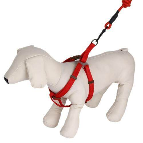 KIMPETS THREE-PIECE SUIT PET HARNESS LEASH (RED)