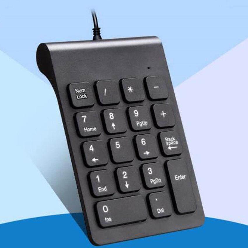 Nirkabel/Berkabel USB Numeric Keypad Numpad Jumlah 18 Tombol Alas untuk Laptop Buah-Internasional
