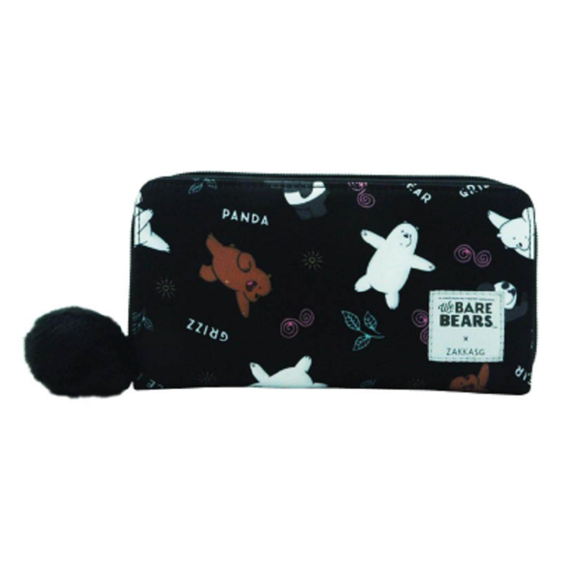 We Bare Bears Wallet - Black Colour