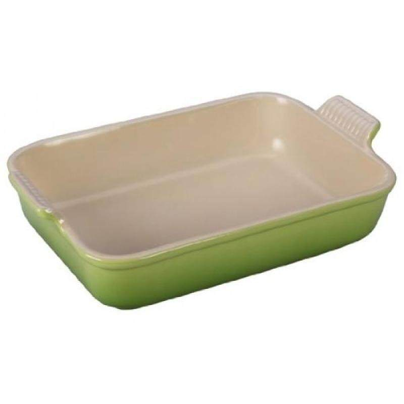 Le Creuset Heritage Stoneware 12-by-9-Inch Rectangular Dish, Palm - intl Singapore
