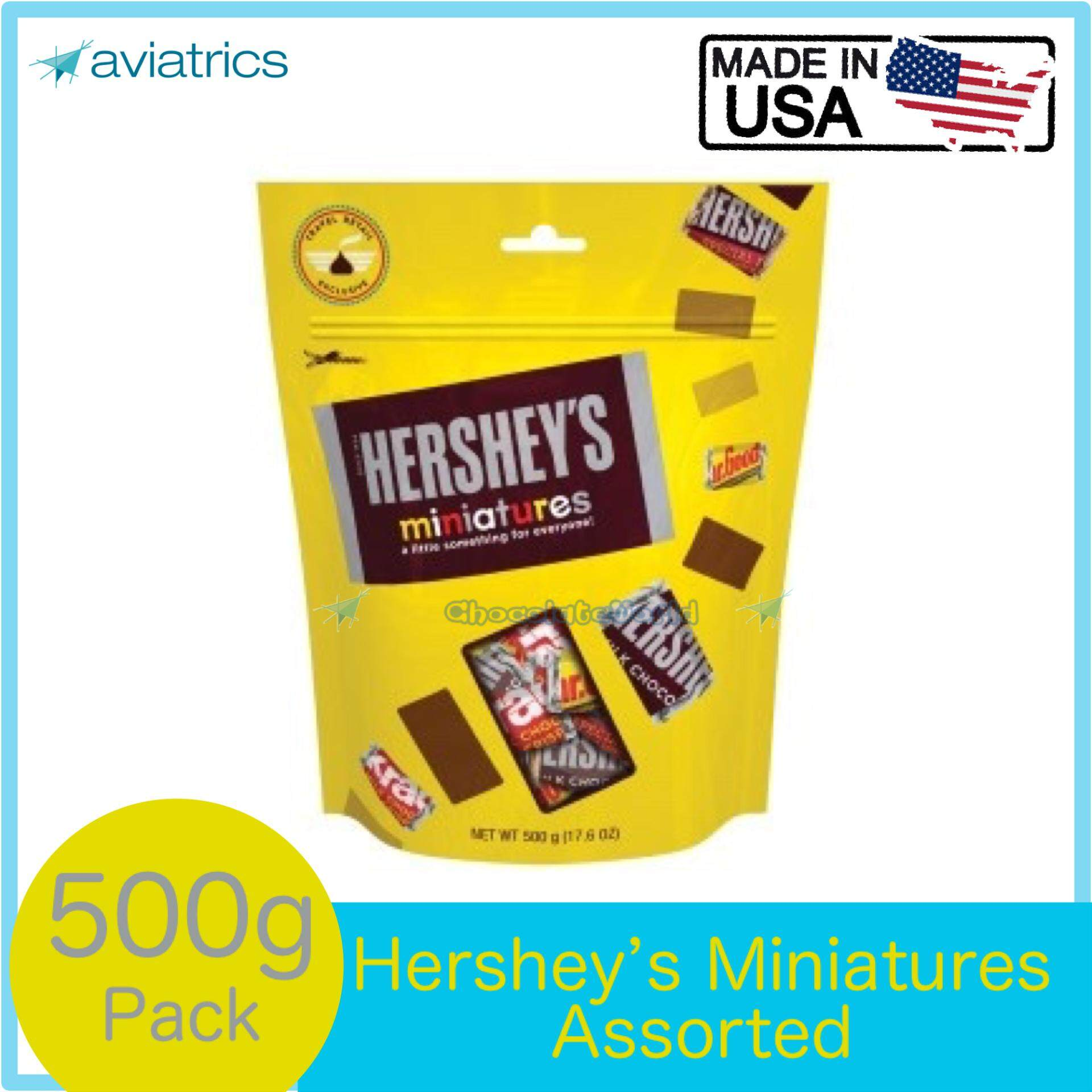 Hershey's Assorted Miniatures Jumbo Pouch 500g (Made in USA)