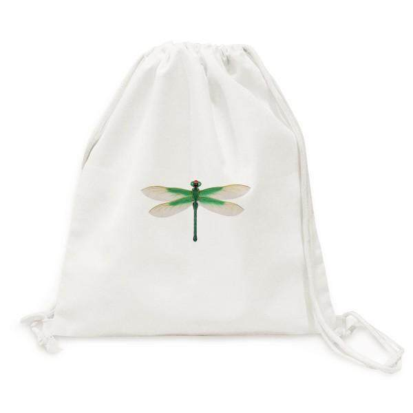 Traditional Chinese Kite Dragonfly Pattern Canvas Drawstring Backpack Travel Shopping Bags - intl