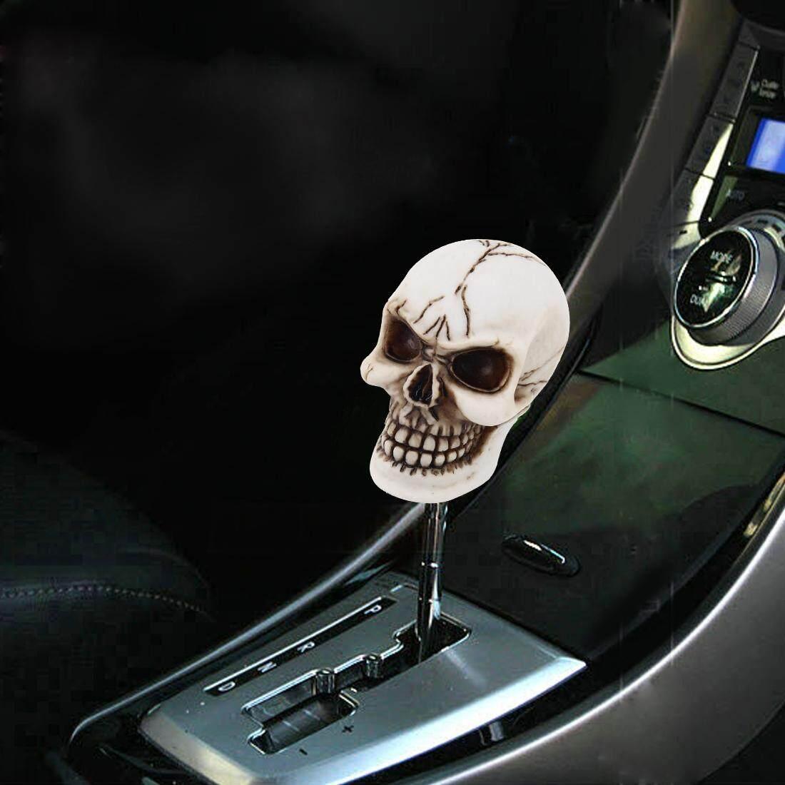 Universal Bentuk Kepala Tengkorak ABS Manual atau Gerigi Otomatis Shift Knob dengan Tiga Penutup Karet Cocok