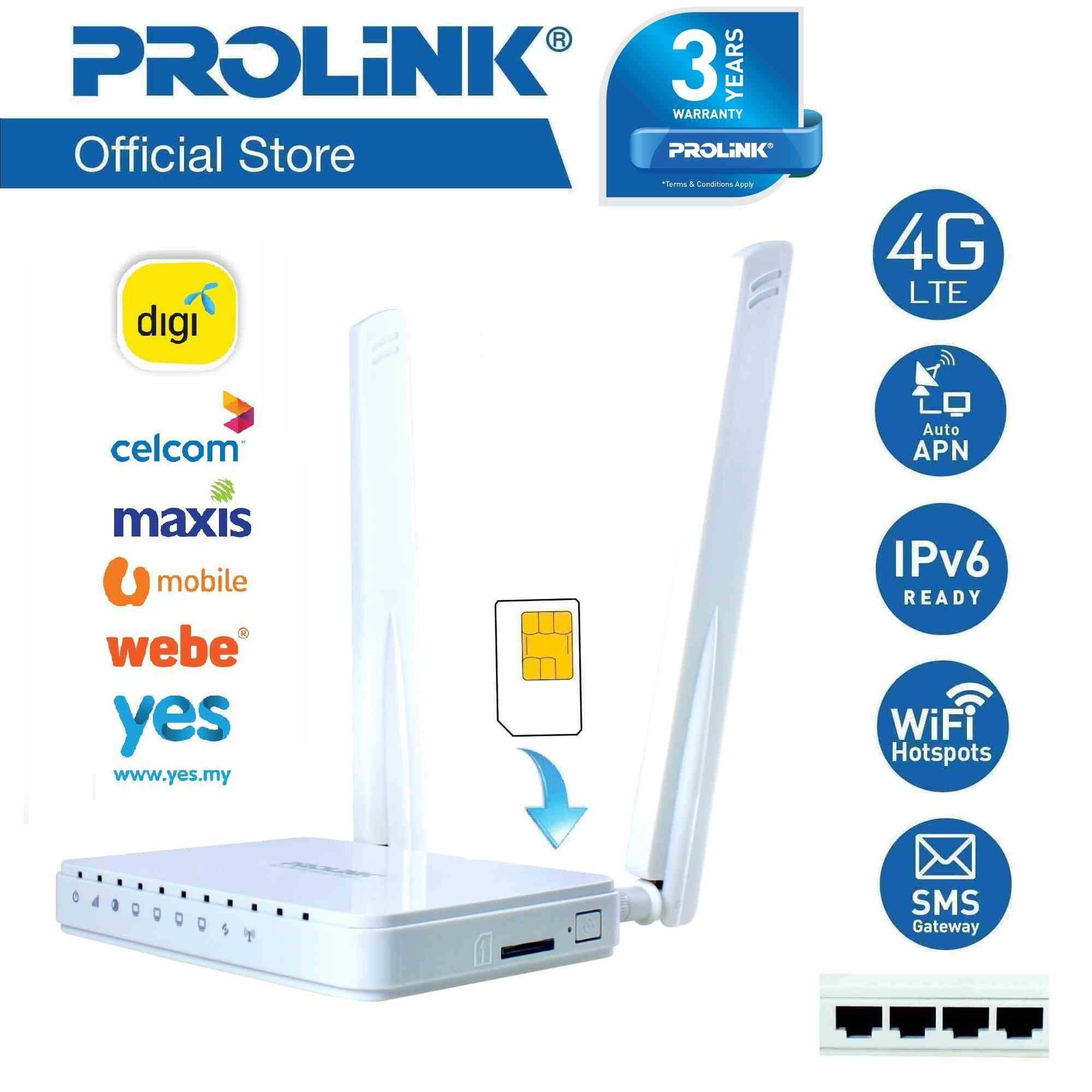 Features Prolink Prn3003l 4g Lte Wireless Router With 4 Port ...