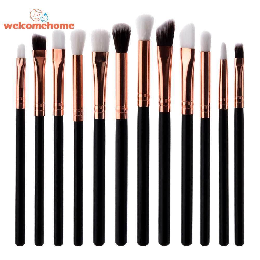 12pcs Flat Eyeshadow Lip Makeup Brushes Kit Eyebrow Brush Cosmetic Tool Set - intl