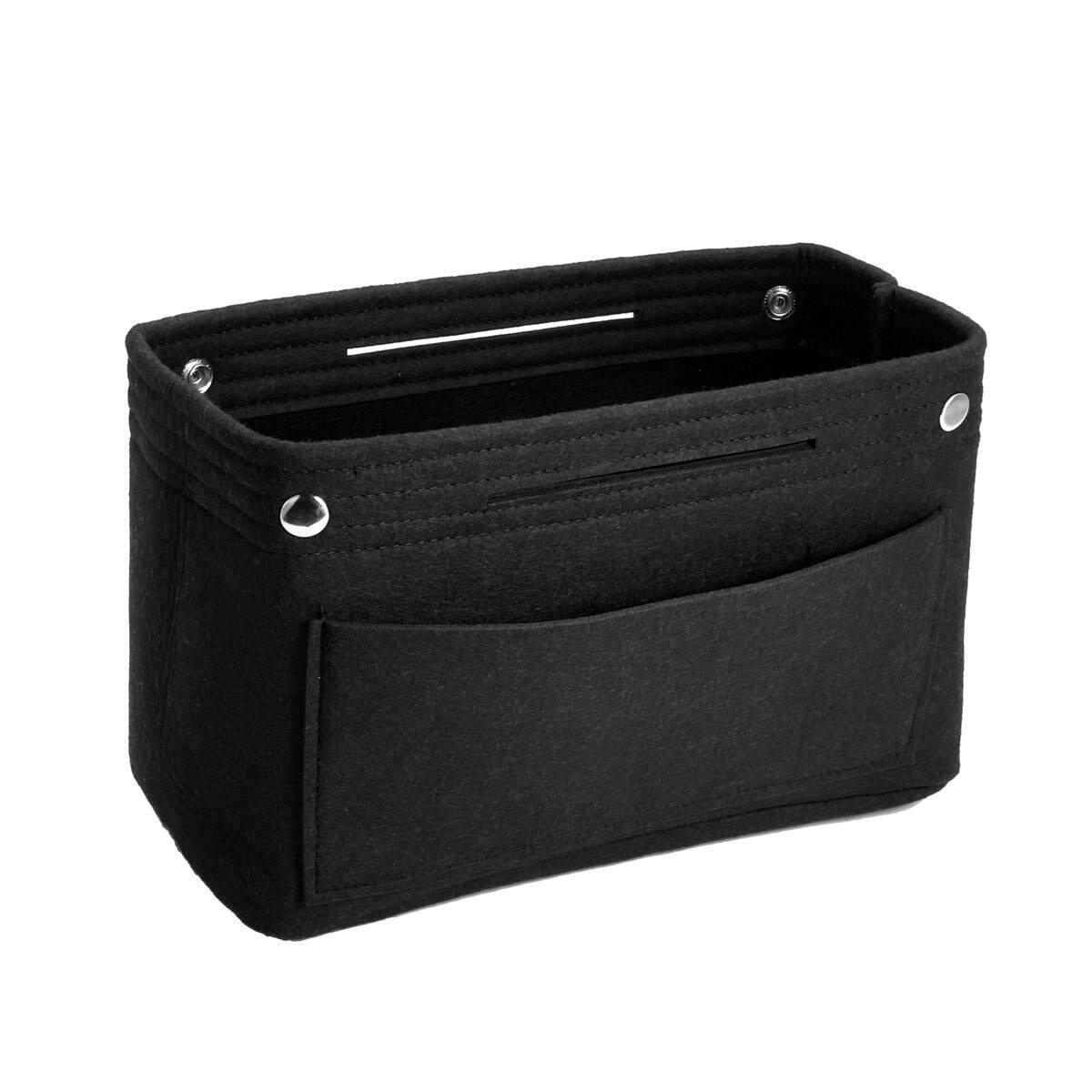 Felt Insert Handbag Organizer Travel Purse Bag Organizer Storage Large Color BLACK 37X28X18x10.5cm - intl