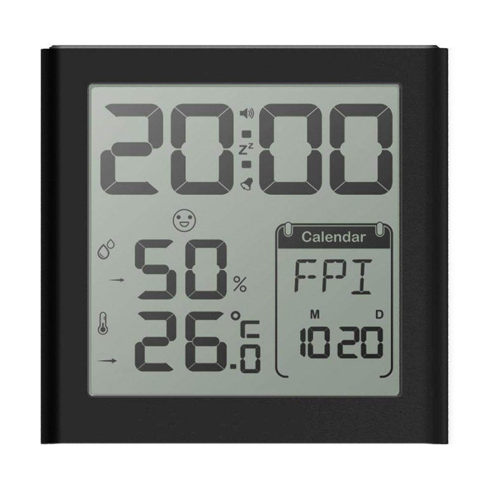 boyun Multi-function Alarm Clock Rechargeable,Digital Desk Clock With Indoor Temperature/Humidity, Week,12/24h Display, Snooze, Sensor Backlight For Heavy Sleepers, Teens,Kids