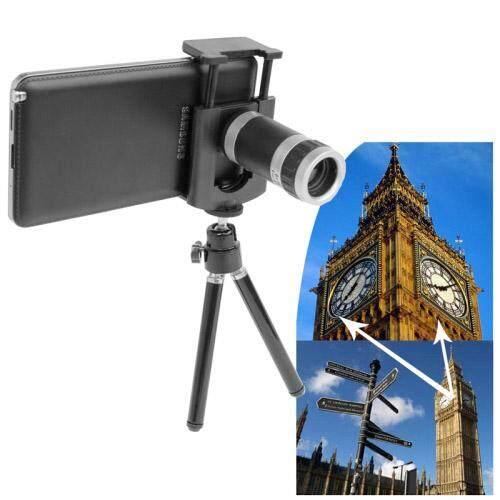 8X Zoom Optik Teleskop Ponsel Universal Circumscription Lensa dengan Tripod & Dapat Disesuaikan Klip, untuk iPhone, Galaksi, sony, Lenovo, HTC, Huawei, Google, LG, Xiaomi dan Ponsel Pintar Lainnya-Internasional