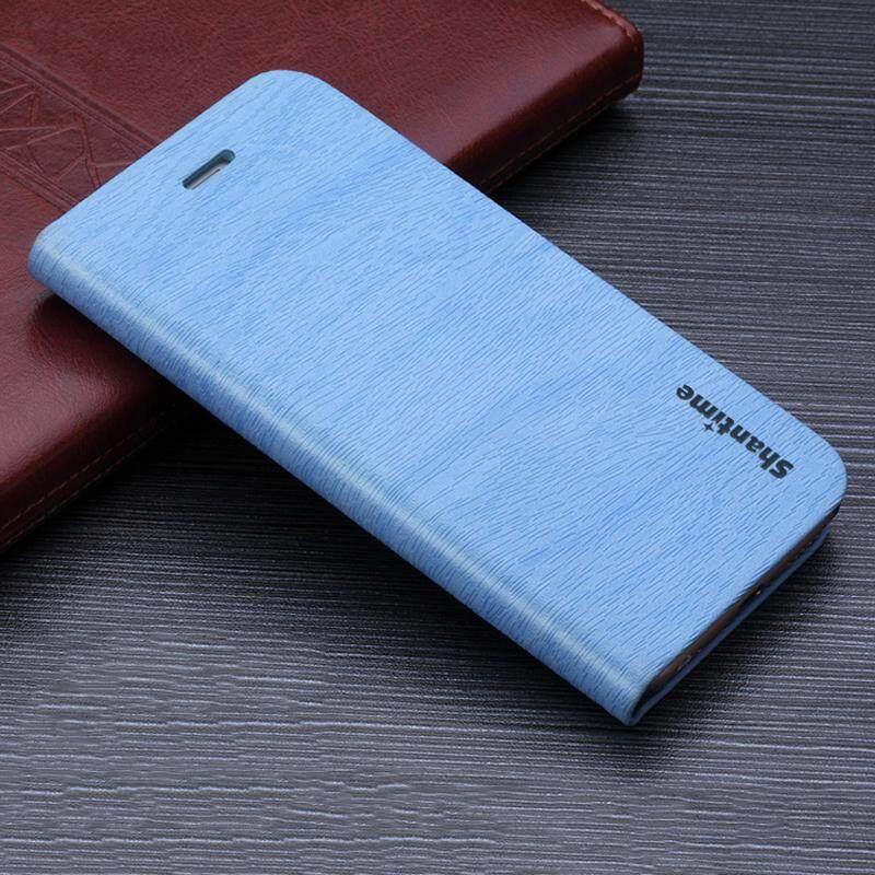 Kayu Kasus Telepon untuk Alcatel Satu Sentuh Perhatian C5 Casing Kulit Butir Kayu Lipat Sarung untuk Alcatel Satu Sentuh Perhatian c5 Antik Dompet Tas Ponsel-Internasional
