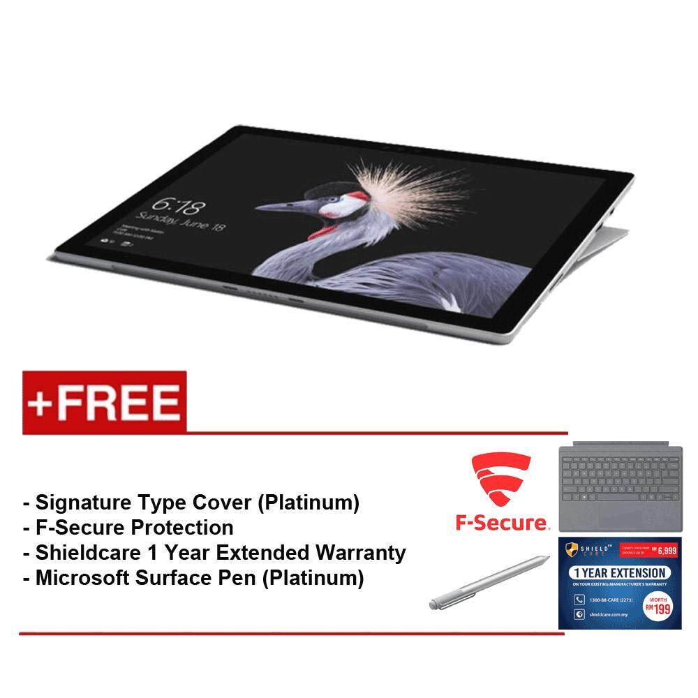 NEW Microsoft Surface Pro-Core i5 8G/256GB Free Surface Pro Type Cover(Platinum)+ Shieldcare 1 Year Extended Warranty+ F-Secure EndPoint Protection+ Microsoft Surface Pen (Platinum) Malaysia