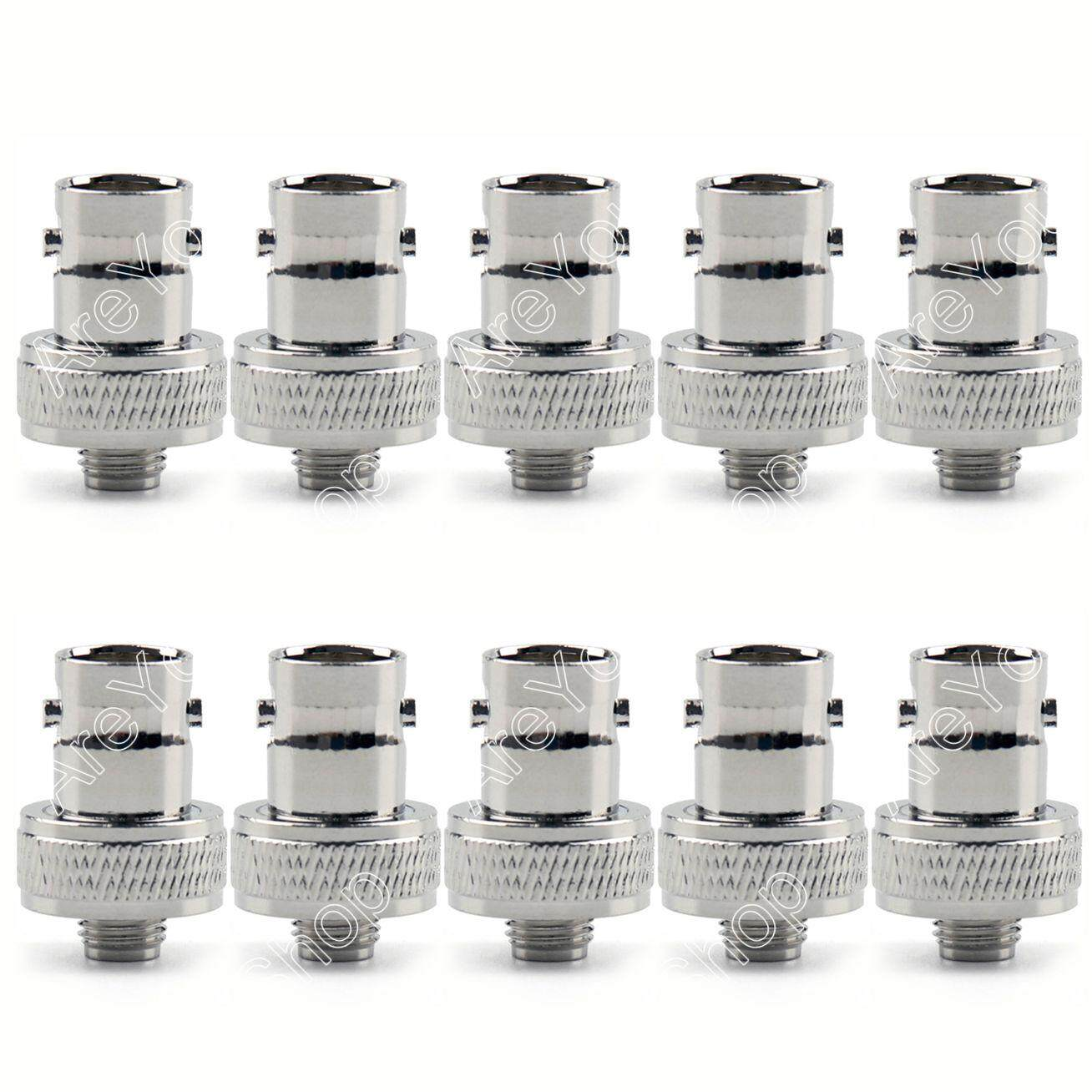 Areyourshop 10Pcs Adapter BNC Female Jack To SMA Female RF Connector Gold Plating F/F