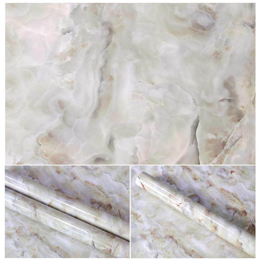 WAWNHENG Marble Sticker Paper Decal Self-Adhesive Film Wall Decor for Living Room Kitchen Bedroom Home Decoration Cabinet Closet Wardrobe Decorative Sticker