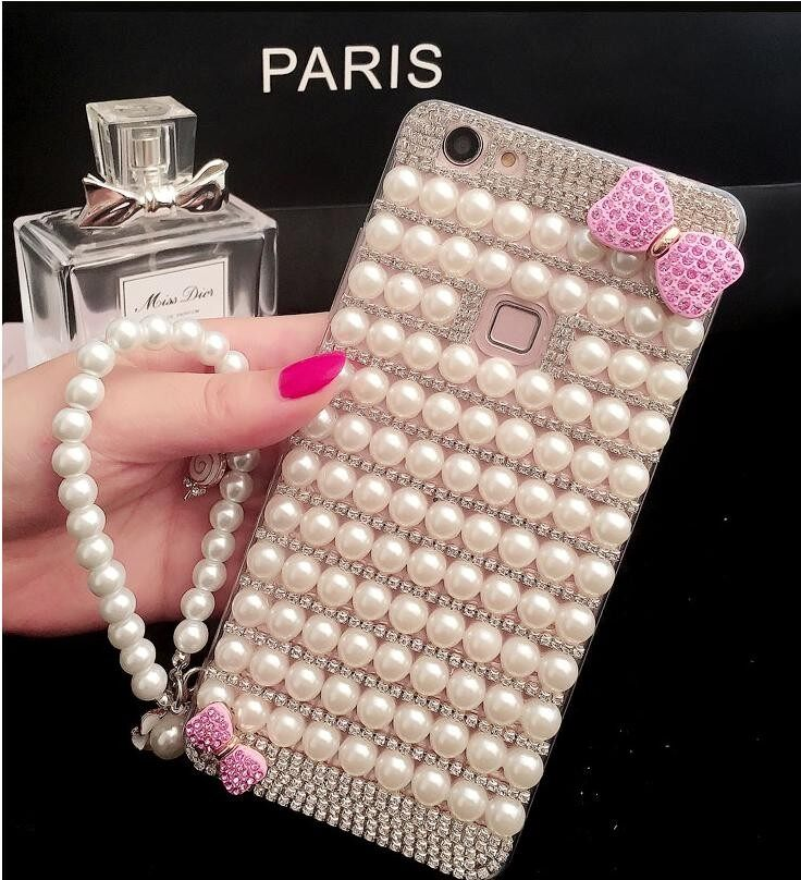 Bling Rhinestone Crystal Diamond Back Phone Case Cover For Sony Xperia XZ2 - intl