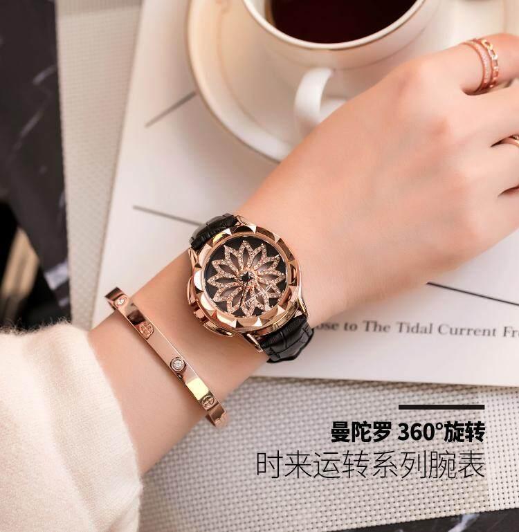 Switzerland Luxury Brand Mashali 30 waterproof Leather strap women fashion watches 88115