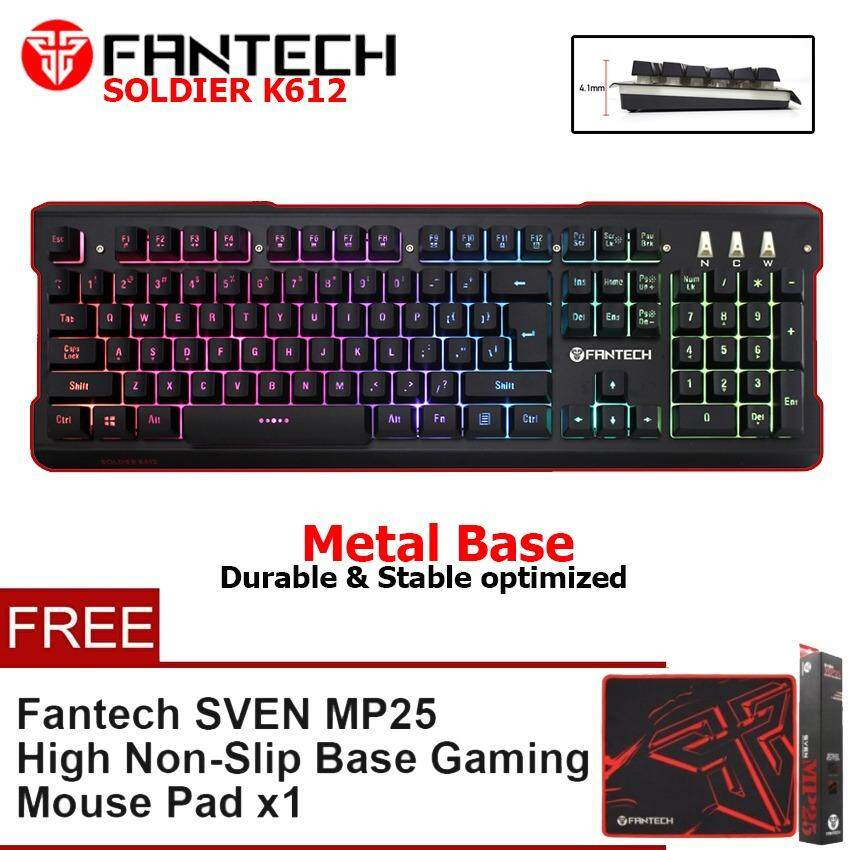 FANTECH (SP65) K612 SOLDIER RGB Gaming Keyboard Full Size Durable Keyboard For Gamers