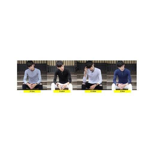 (Pre Order ETA End Feb 2021 CNY Break)(Pre Order ETA 14/2)Korean Style Men Long Sleeve Shirt Collection 301D-72 (Black)