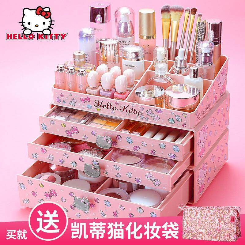 Detail Gambar Hellokitty large No. Cosmetics storage box Terbaru