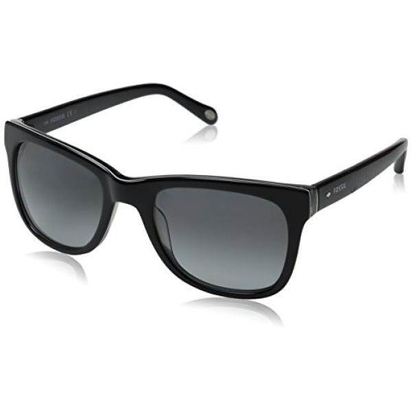 Fossil Fos2032s Square Sunglasses, Black/Gray Gradient, 53 mm - intl