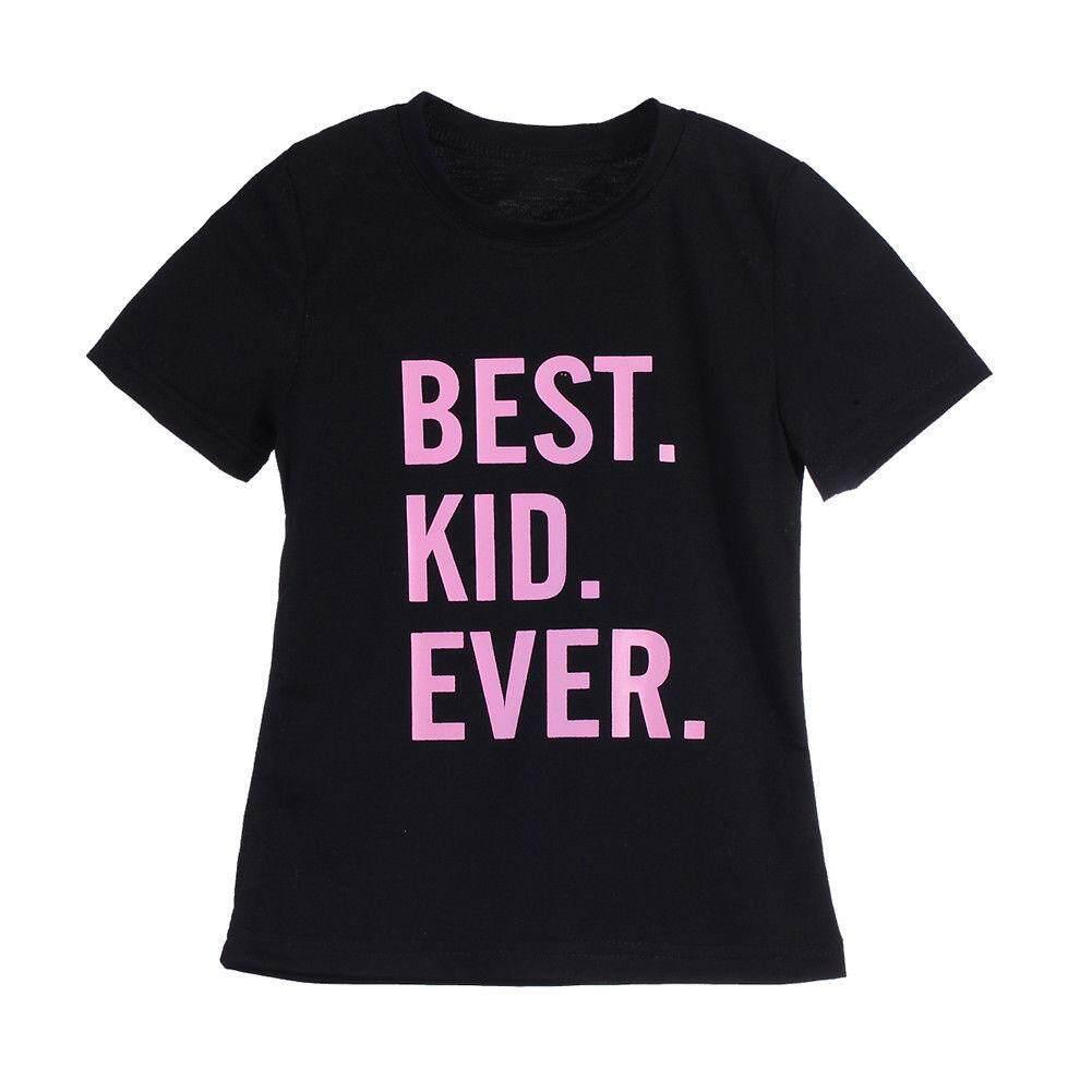 Ayah & Bayi Kaus Keluarga Lengan Pendek Pakaian Kaus Atasan Keluarga Pencocokan Pakaian (Anak-anak)