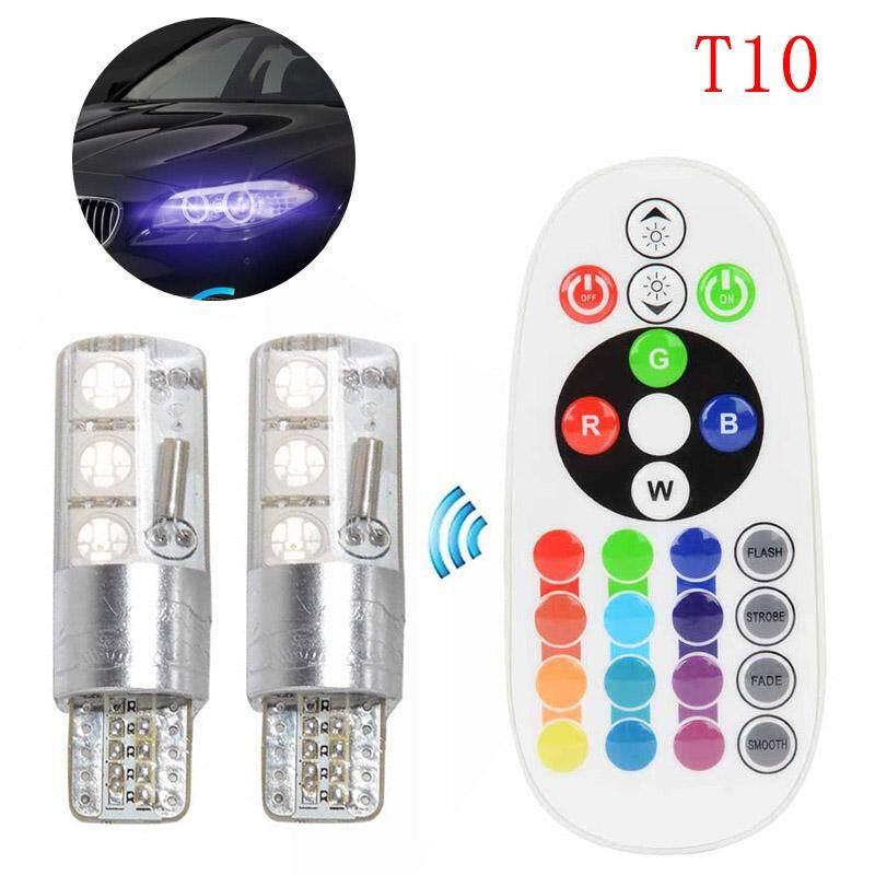 T10 5050-6SMD Bola Lampu LED Warna-warni Lebar Lampu Sorot Mobil DIY Aksesoris-Internasional