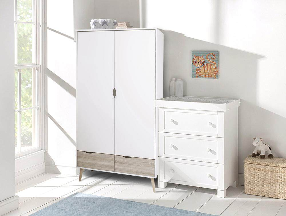 Malm wardrobe white dresser 2 doors with drawer closet for Armoire malm