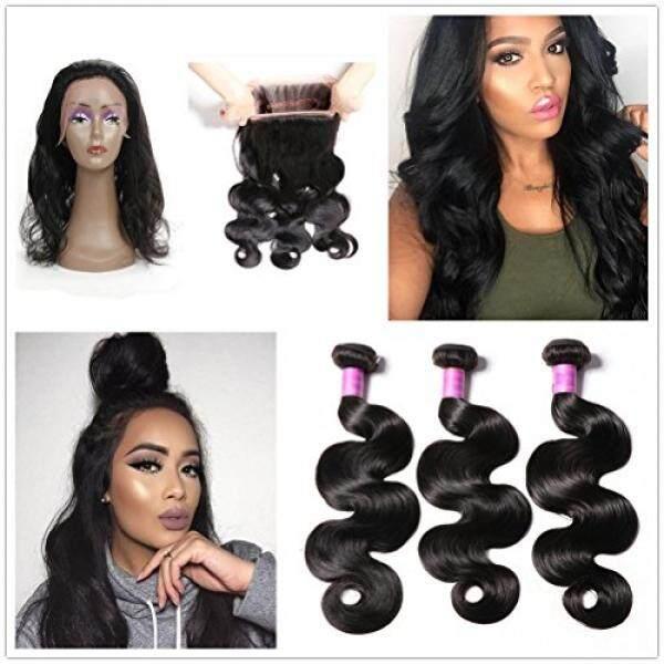 Jisheng 100 Malaysia Yang Tidak Diproses Badan Wave Perawan Rambut dengan Penutupan Remy Rambut Bundel Harga Murah Pre Plucked Ace Frontal dengan bundel 8A Menenun Rambut Manusia Bundel-Internasional