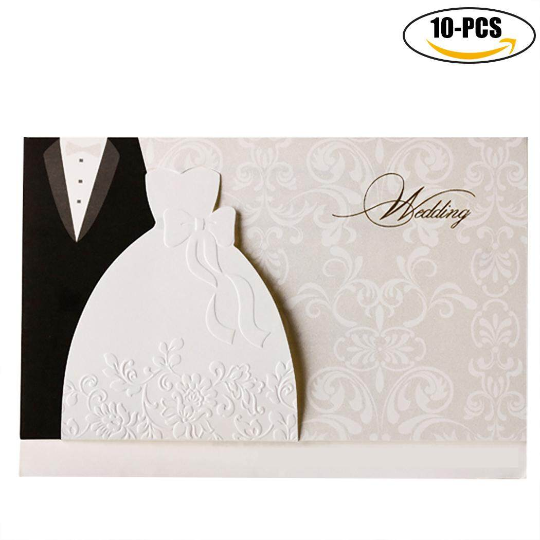 Invitation cards for sale party cards online brands prices 10pcs wedding invitation cards creative wedding cards party invitations with envelope intl stopboris Gallery