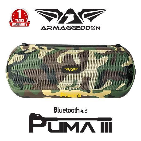 ARMAGGEDDON PUMA III PORTABLE BLUETOOTH SPEAKER TRUE BASS WITH FM RADIO SD CARD USB PLAYBACK OUTDOOR MODE