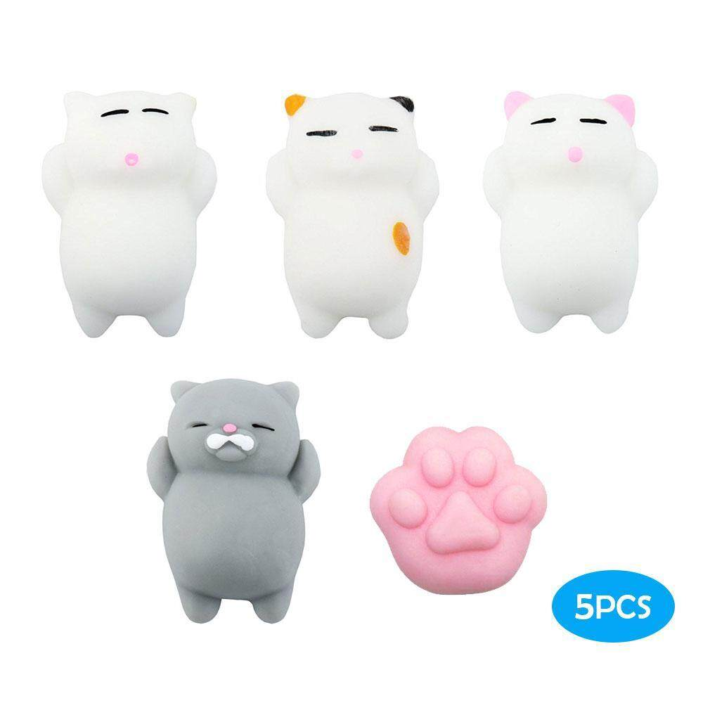 wedzwe Animals Stress Toys,5 Pcs Mochi Squishy Toy Mini Cat Squishy Mochi Squishy Cat