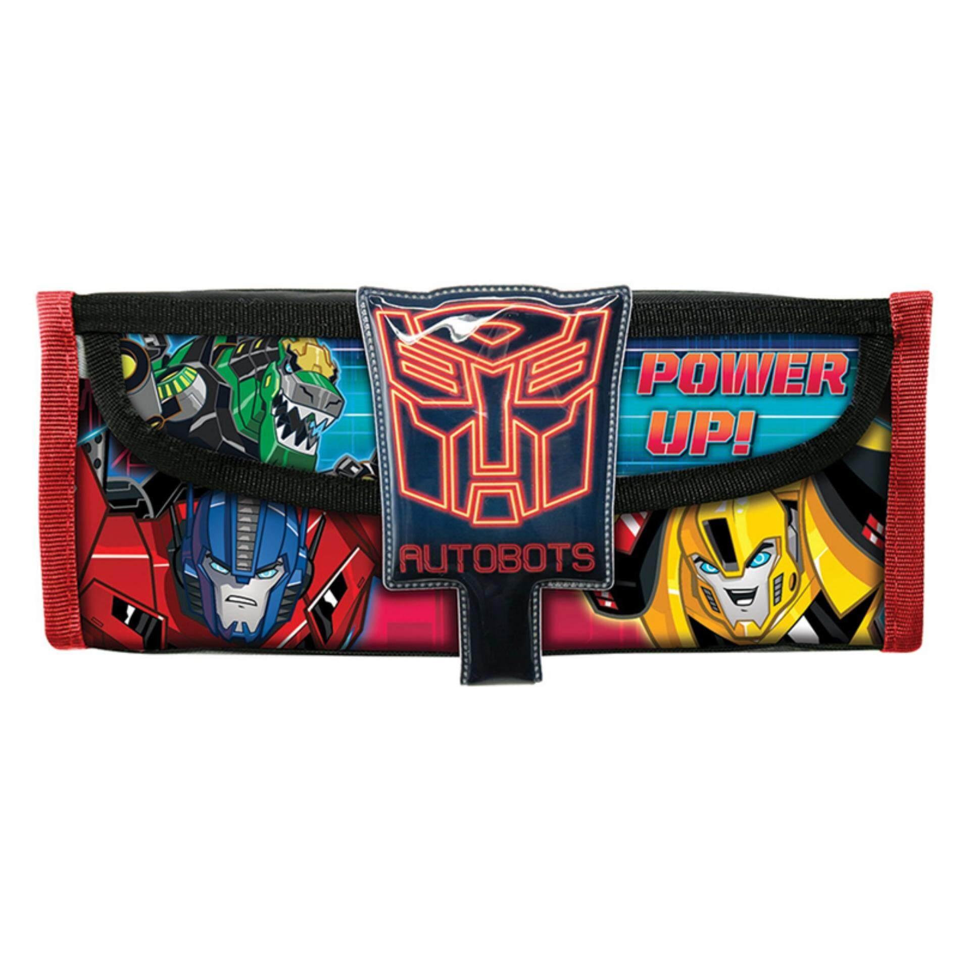 Transformers Square Pencil Bag With Pocket - Black Colour
