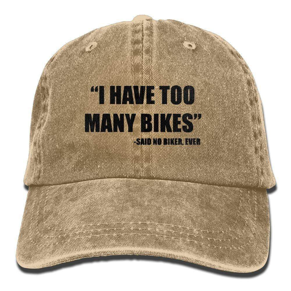 Richard I Have Too Many Bikes Said No Biker, Ever Adult Cotton Washed Denim Visor Hat Adjustable Natural - intl