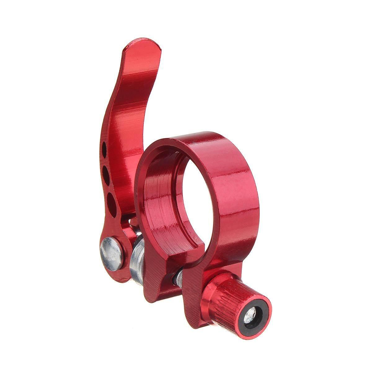 Detail Gambar Sepeda Pelepas Sepeda Cepat Dudukan Sepeda Tempat Duduk Clamp Alumunium Alloy 3 Ukuran Merah