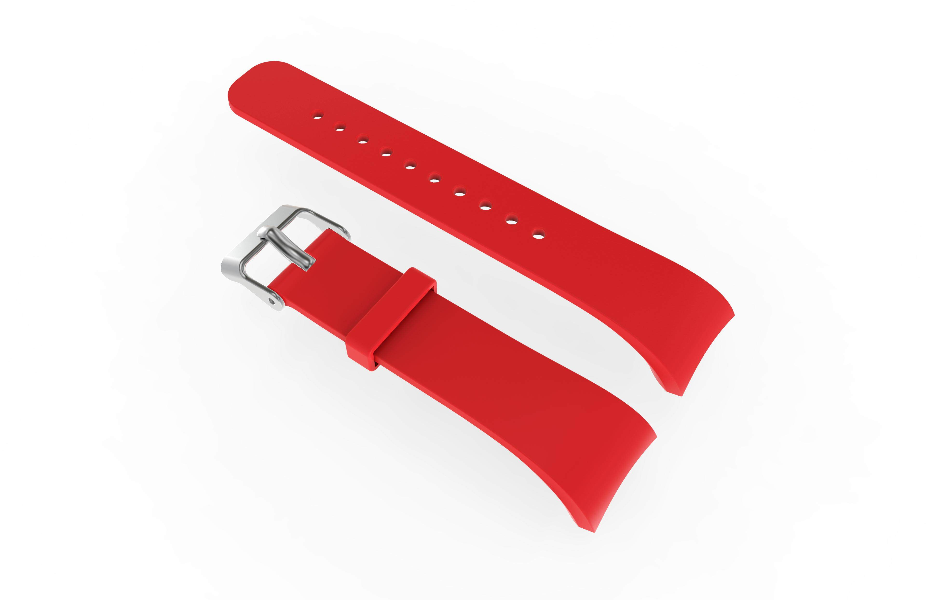 Alician Replacement Sport Band Silicone Wristband Watch for Samsung Gear Fit2 R360 Bracelet Red
