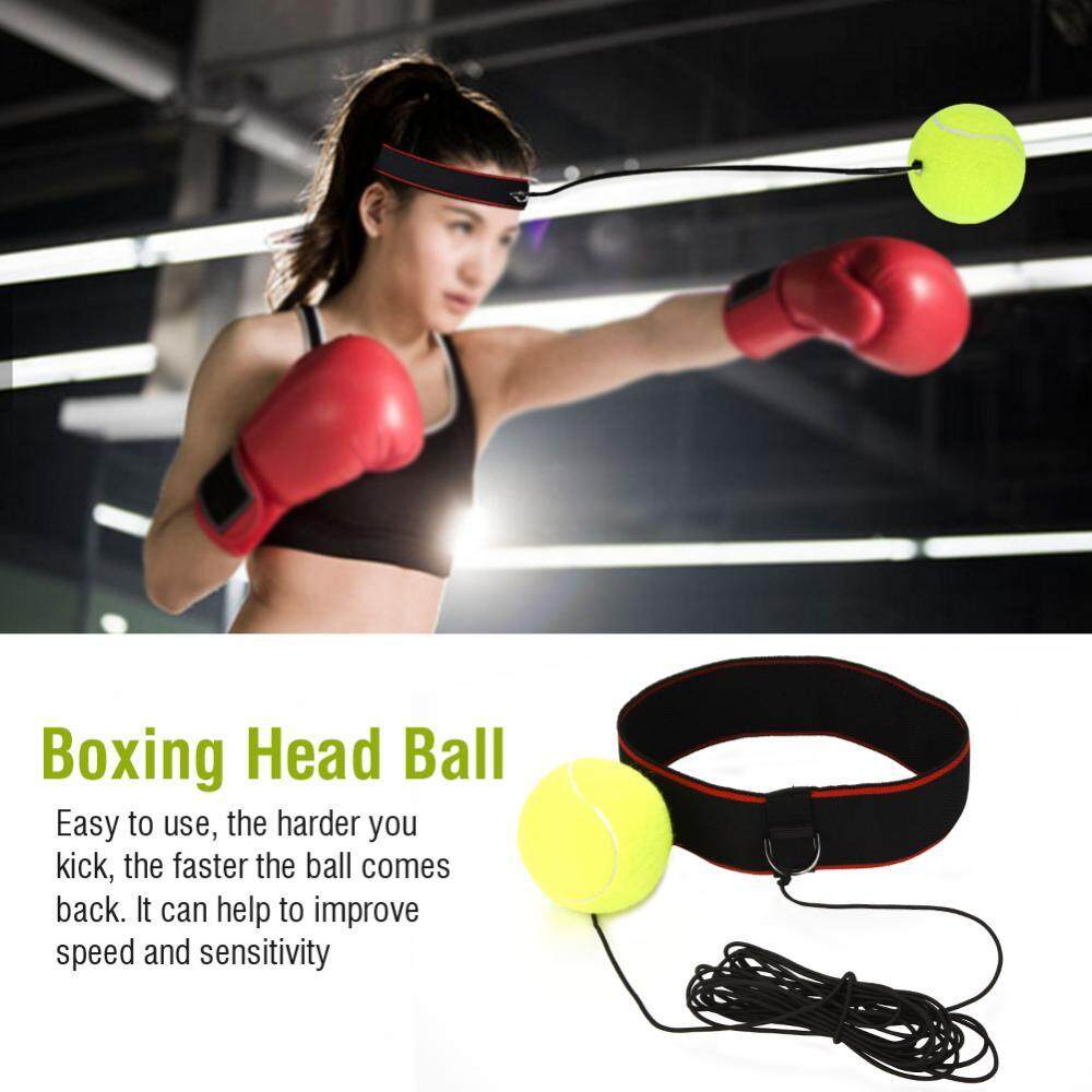 Hình ảnh Adult Boxing Punch Exercise Ball with Head Band Equipment for Speed Training (Black Band) - intl