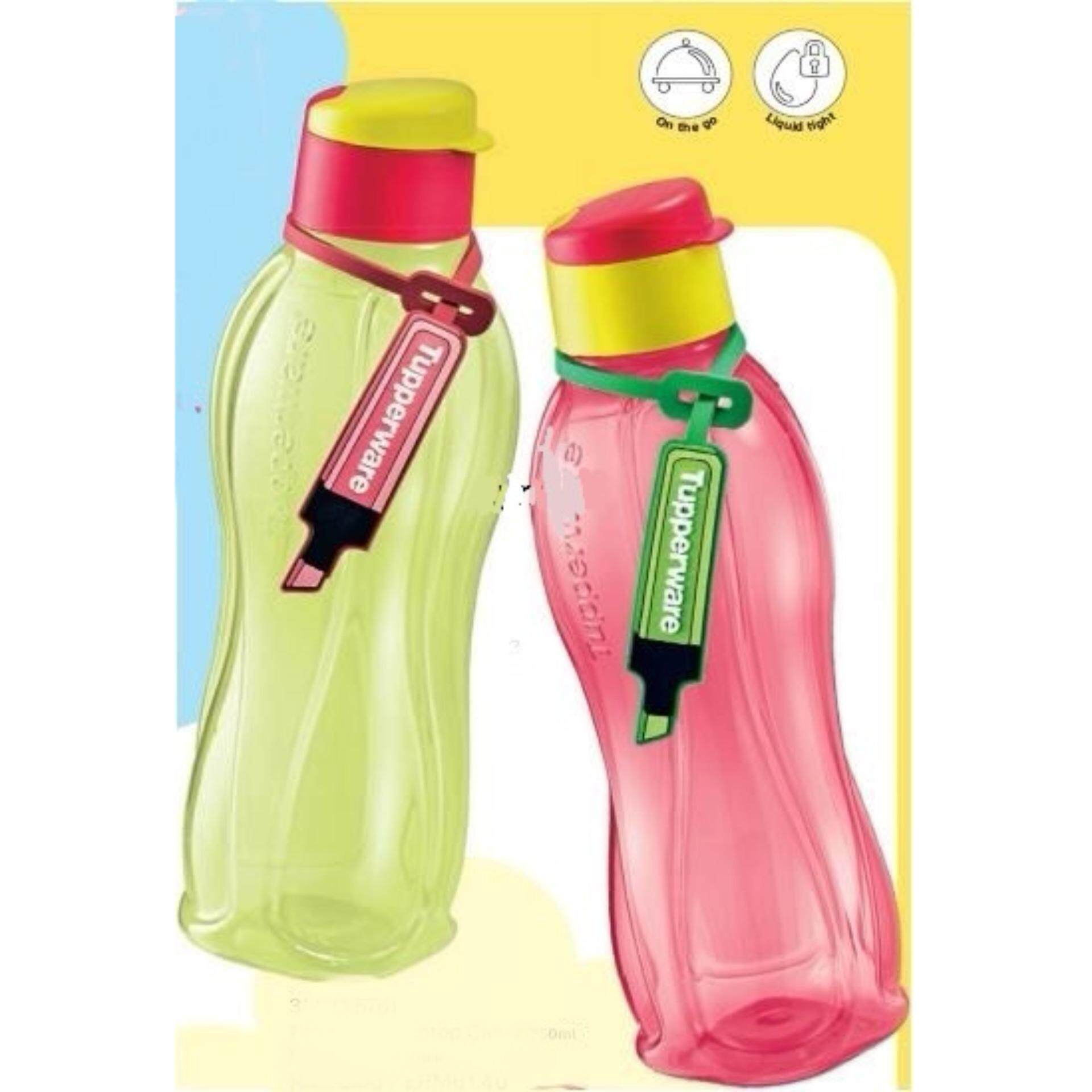 Features Tupperware Neon Eco Bottle Flip Top 750ml Limited Edition 310ml 4 2 Free Tag Yellow Red
