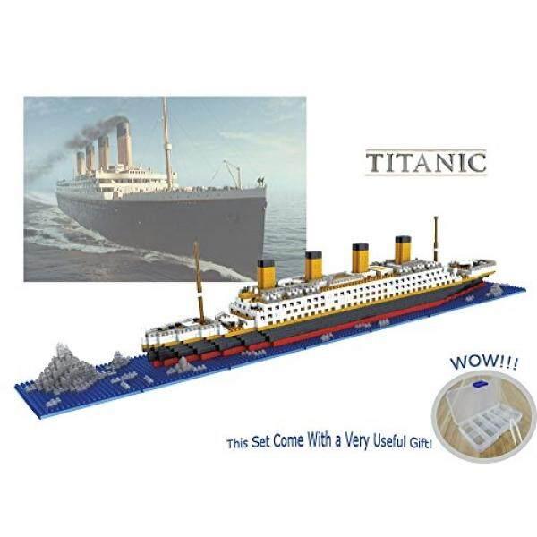 Sanzo Titanic Model Mikro Block Build Set 1860 Pcs-Nano Mikro Berlian Blok DIY Mainan Pendidikan-Internasional
