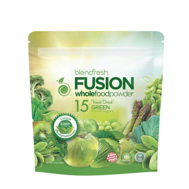 BLENDFRESH 15 Green Fruits & Vegetables Whole Food Powder, 160g