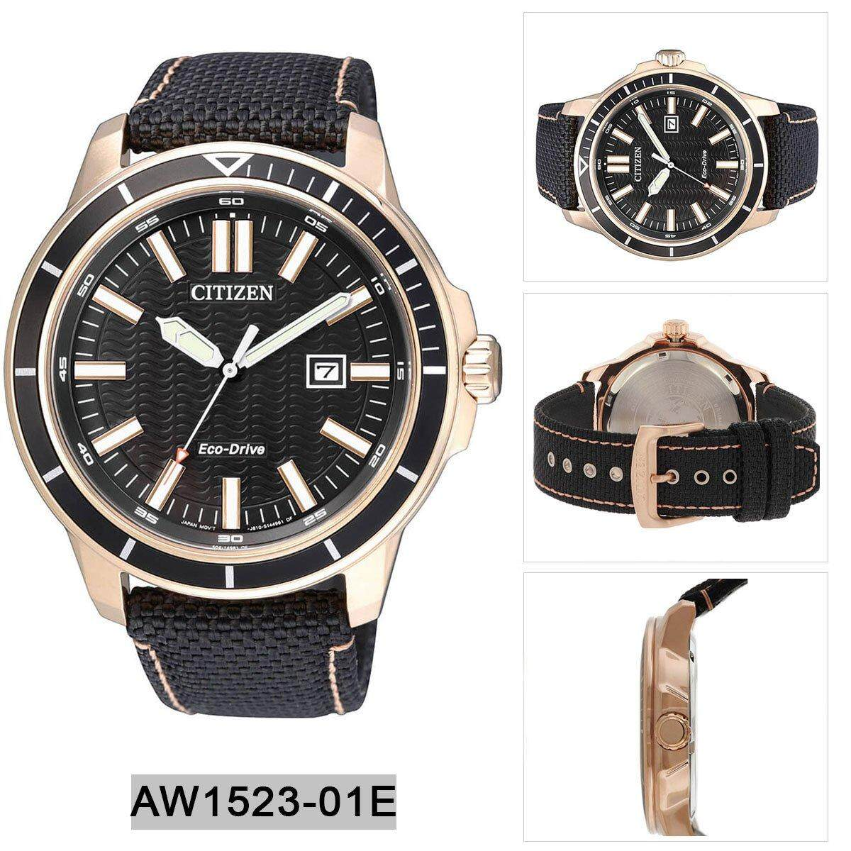 Cek Harga Citizen Eco Drive Black Stainless Steel Case Nh8388 81e Leather Strap Mens Aw1523 01e
