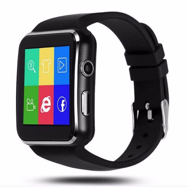 X6 Bluetooth Pintar Jam Tangan untuk Android IOS iPhone Samsung Huawei Sony Denyut Jantung Tidur Pelacak Dewasa Olahraga Pergelangan Tangan Jam Tangan Mendukung kartu SIM-Internasional