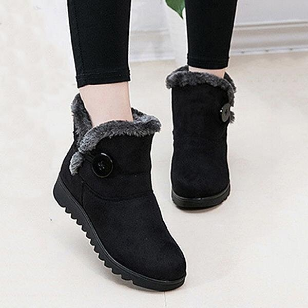 c1e25cd3078f4 Fashion Buckle Comfortable Keep Warm Soft Winter Ankle Snow Boots For Women