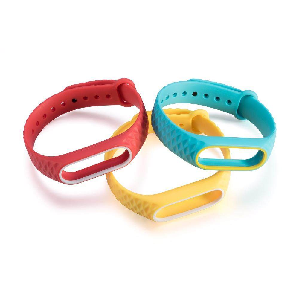Fitur Original Colorful Silicone Strap Bracelet Double Color For Xiaomi Mi Band 2 Smart Detail Gambar Replacement Wristband Accessories Terbaru