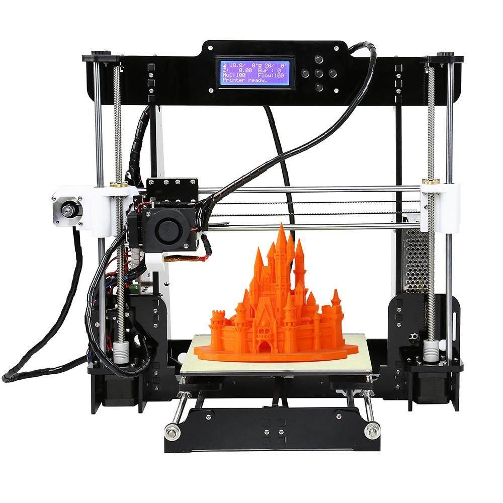 Anet A8 Upgraded High Precision Desktop 3D Printer Reprap Prusa i3 DIY Kits  Self Assembly Auto Self-leveling Acrylic Frame Printing Size 220*220*240mm