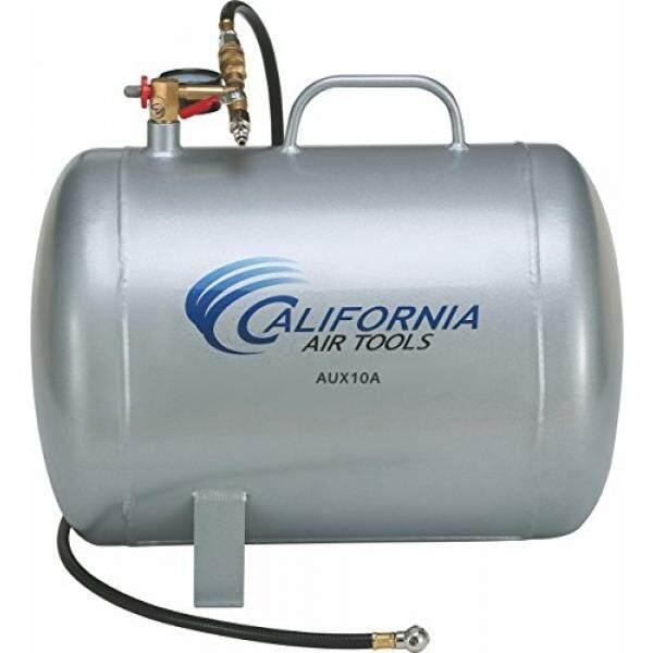 California Alat Udara CAT-AUX10A 10 Galon Ringan Portabel Aluminium Udara Tangki, Perak-Internasional